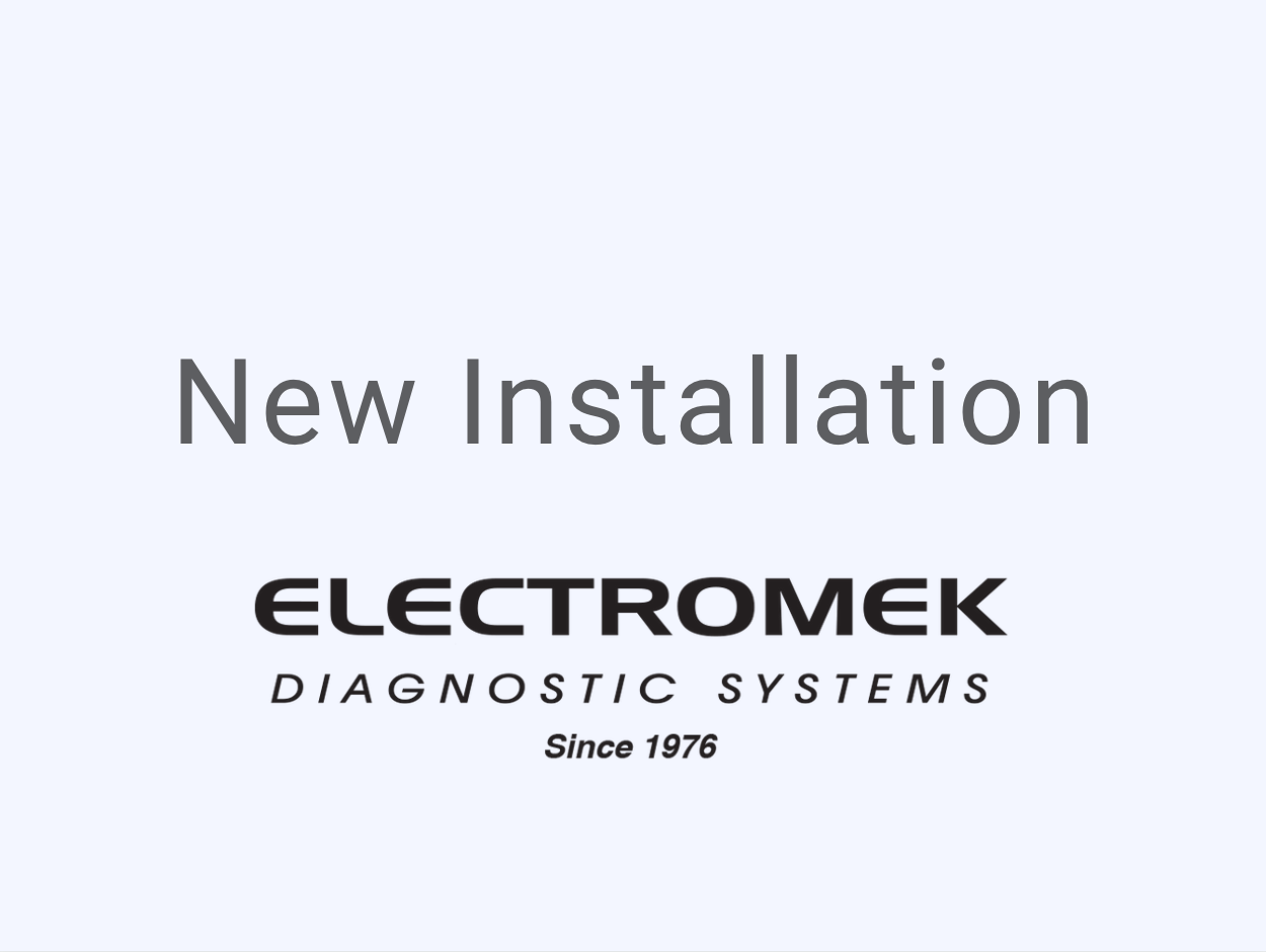 Electromek Diagnostic Systems New Installation