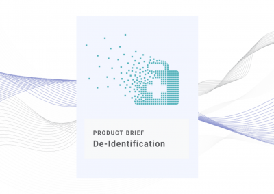 De-Identification Product Brief